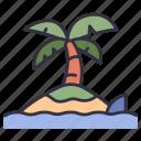island, ocean, shark, sea, water, nature, dangerous
