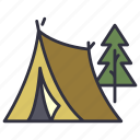 tent, forest, nature, travel, adventure, camp, tree