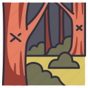tree, mark, wood, nature, forest, wandering
