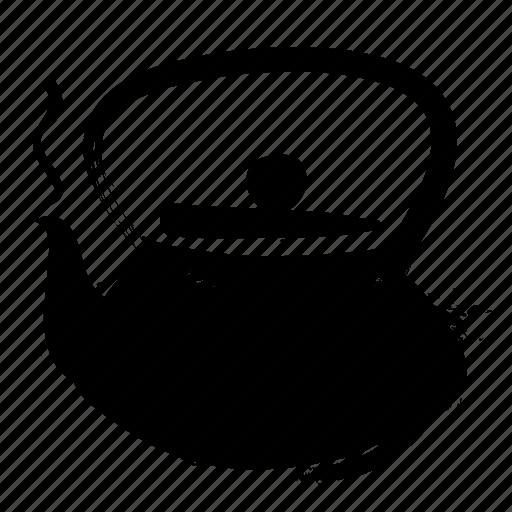 sumie, tea, teapot icon