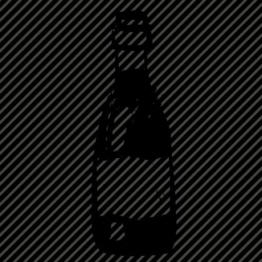 bottle, sumie, white wine, wine icon