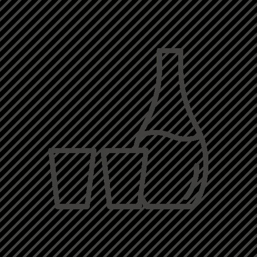 alcohol, binge, bottle, glass, japanese, sake, sushi icon