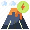 nature, mountain, energy, ecology, geothermal, sustainable, environment icon