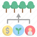 forest, management, modelling, sfm, sustainable icon