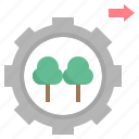 forest, governance, management, operation, sustainable icon