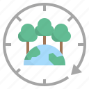 environmental, everlasting, forest, forever, sustainably icon