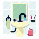 bath, bathroom, home, house, room, sink, water icon