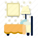 bed, bedroom, furniture, house, interior, room, sleep icon