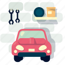car, garage, home, house, room, vehicle icon