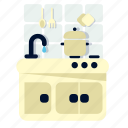 basin, cooking, home, house, kitchen, room icon