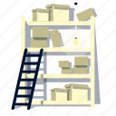 boxes, furniture, home, house, room, storage icon