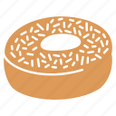 bakery, chocolate donut, donut, donut icon, filled donut, sweet, sweet icon icon