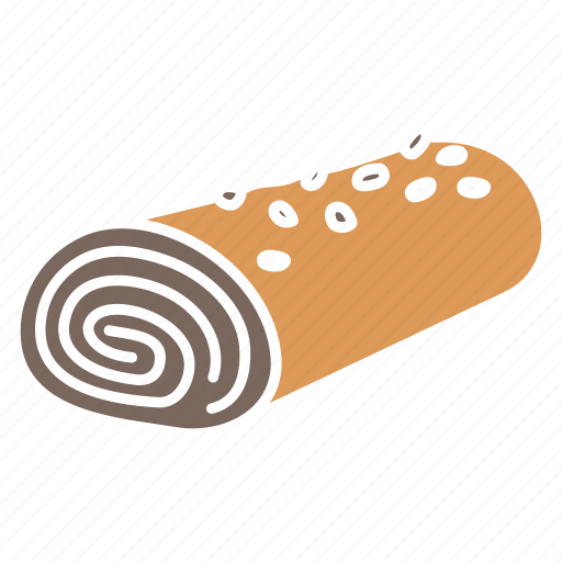 Chocolate, chocolate roll, dessert, roll, strawberry, strawberry roll, sweet icon - Download on Iconfinder