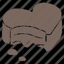 chocolate, chocolate heart, filled praline, heart, praline, praline icon, valetine icon