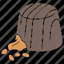 caramel praline, chocolate praline, dessert, filled chocolate, filled praline, nuts praline, praline icon