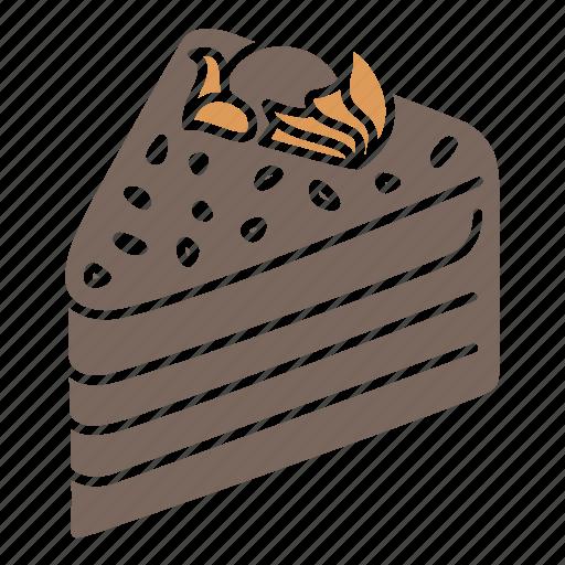 birthday, cake, cake icon, cake slice, celebration, choco cake, sweets icon