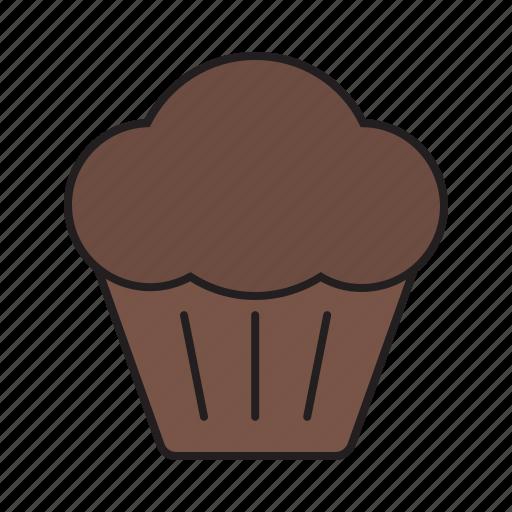 bakery, breakfast, chocolate, dessert, muffin, sweet, sweets icon