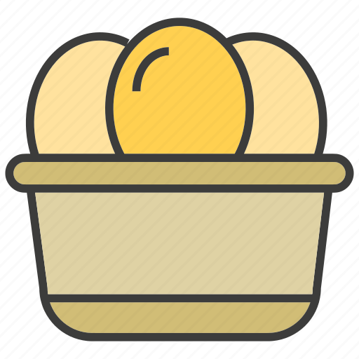 bowl, dessert, egg, sweets icon
