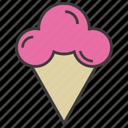 cone, dessert, ice cream, sweets icon