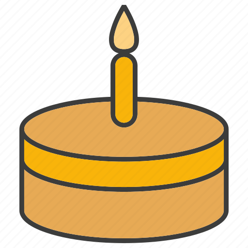 birthday, cake, candle, dessert, sweets icon