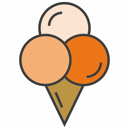 cone, dessert, ice cream, sweets icon