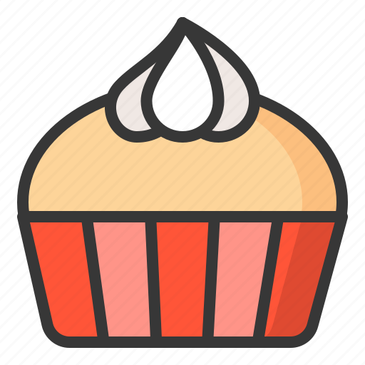 cupcake, dessert, food, sweets icon