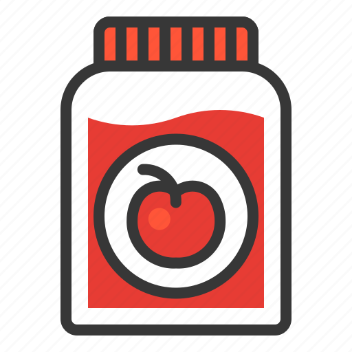 cherry, dessert, food, jam, sweets icon