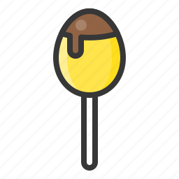 chocolate egg, dessert, easter chocolate, food, sweets icon