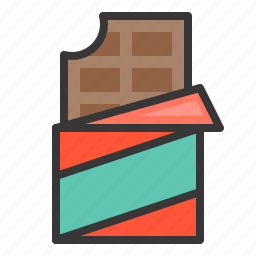chocolate, chocolate bar, dessert, food, sweets icon