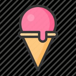 dessert, food, ice cream, ice cream cone, sweets icon