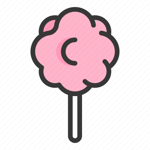 cotton candy, dessert, food, sweets icon