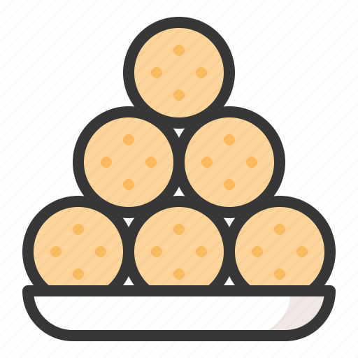 ball, dessert, food, sesame balls, sweet potato balls, sweets icon