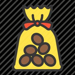 bag, chocolate, chocolate ball, dessert, food, sweets icon