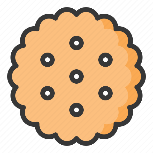 cookie, cracker, dessert, food, sweets icon