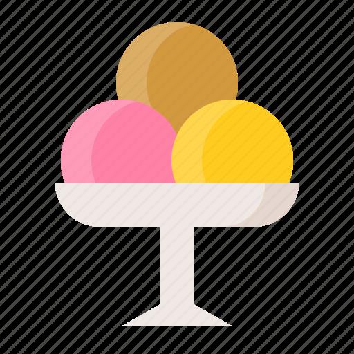 dessert, food, ice cream, ice cream scoops, sweets icon