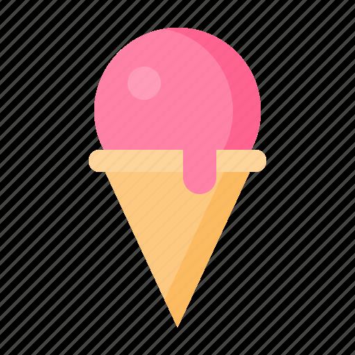 dessert, food, ice cream cone, sweets icon