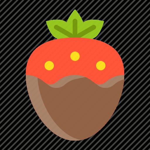 dessert, food, strawberry, strawberry fondue, sweets icon