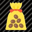 bag, food, dessert, chocolate, sweets, chocolate ball