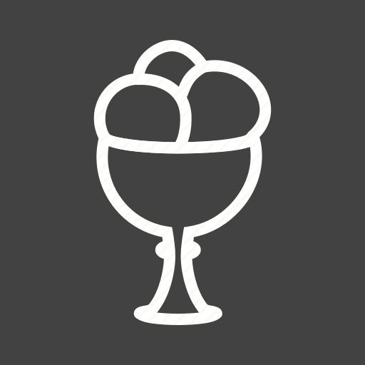 cream, cup, dessert, food, goblet, icecream, strawberry icon