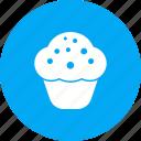 cake, choclate, cupcake, dessert, sweet, tasty, vanilla icon