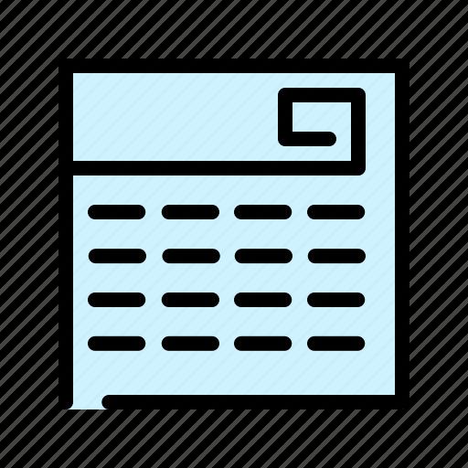 calendar, date, event, fixture, planner, schedule icon