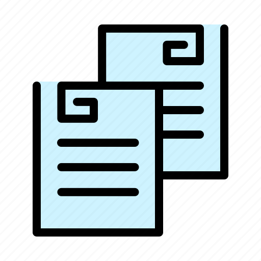 copying, documents, notes, paper, paperwork icon