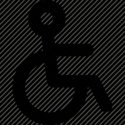 accessibility, disability, handicap, paralyze, wheelchair icon