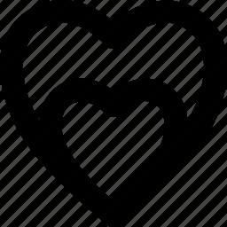 heart, like, love, sparkling heart, valentine icon
