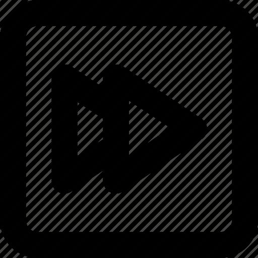 fast forward, forward, media button, media player, next icon