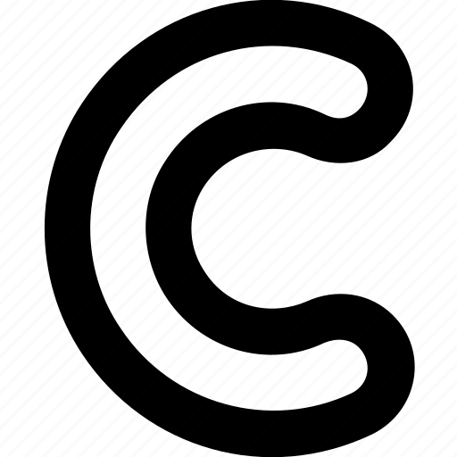 alphabet, certification, copyright, license, trademark icon