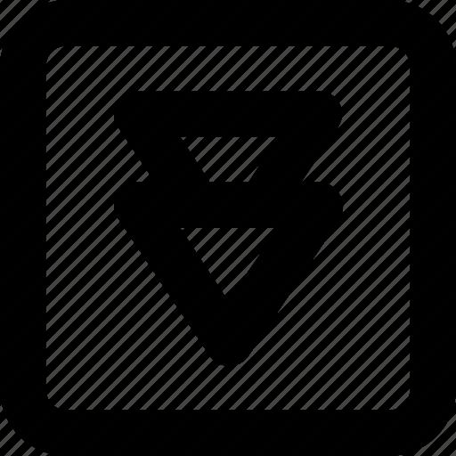 emoji, fast down button, media, multimedia, reserve icon