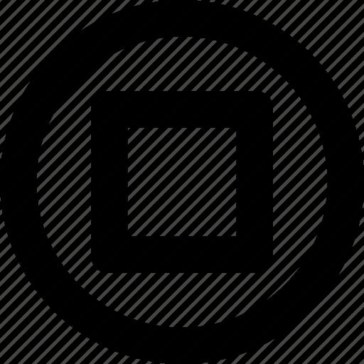 emoji, media, multimedia, recording, stop button icon
