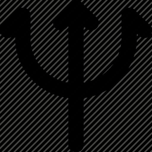 devil, halloween, polearm, trident, weapon icon