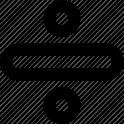 calculation, division, math symbol, mathematics, obelus icon
